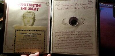 Constantine the Great Ancient Roman Coin In Informational Folder 307-337 A.D.