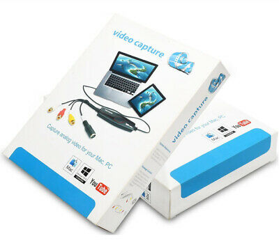 USB Video Capture Grabber Card,Hi8 VCR VHS to Digital DVD Converter Windows Mac.