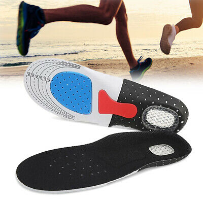 Orthotic Arch Support Sport Running Gel Cushion Heel Shoe Insole Pad Insert UK