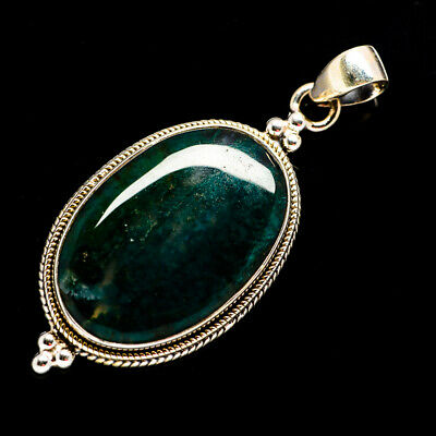 """Green Moss Agate 925 Sterling Silver Pendant 2"""" Ana Co Jewelry P693365F"""