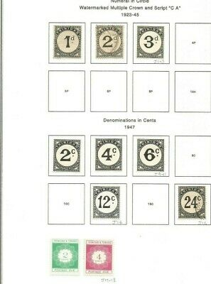 Trinidad And Tobago Group Postage Due Mh/Used