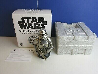 star wars GENTLE GIANT rare chrome edition STORMTROOPER mini BUST *repaired* 12H