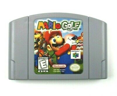Mario Golf (Nintendo 64, 1999) N64 Game Cartridge Cleaned, Tested, Authentic