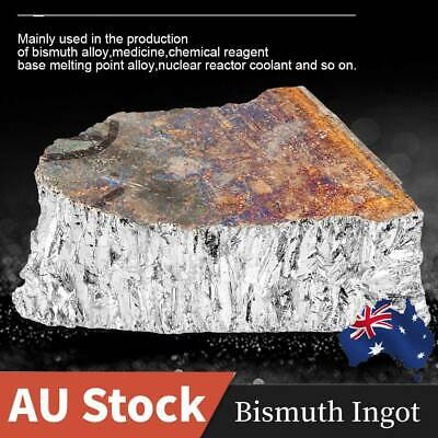 AU 1KG Bismuth Metal Ingot 99.99% Pure Crystal for Making Crystals/Fishing Lures