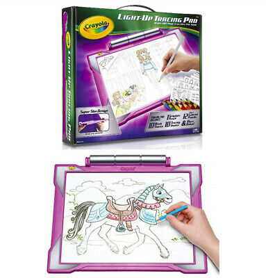NEW Crayola Light Up Tracing Pad Light Board,Art Drawing Crafts Girls Toys GIFTS
