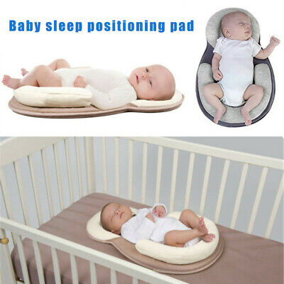 Portable Breathable Baby Pillow Sleep Cushion Pad Newborn Crib Nest Bed Mattress
