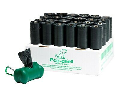 Dog Poo Bags 300 Pack On A Roll Biodegradable Extra Large & Strong by Poo-ches®