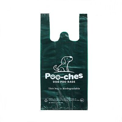 Dog Poo Bags 300 Pack With Tie Handles Strong Biodegradable Premium by Poo-ches®