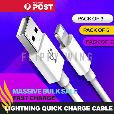 3x Fast Charger Cable Cord Quick Charge Lead 2M 3M Long For iPhone XS X 8 7 iPad