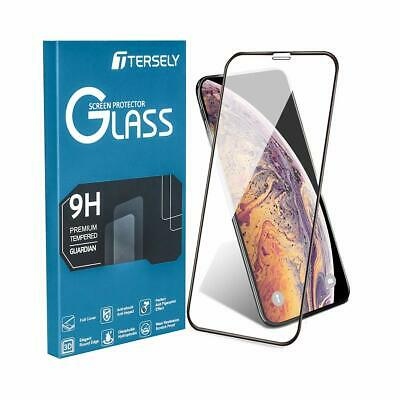 iPhone X XS/10 Screen Protector,6D Full Coverage Cover Tempered Glass Anti Finge