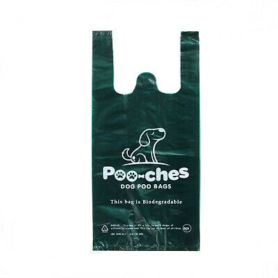 Dog Poo Bags 550 Pack Tie Handle Extra Strong Biodegradable Premium by Poo-ches®