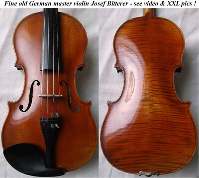 FINE OLD GERMAN MASTER VIOLIN JOSEF BITTERER - video - ANTIQUE バイオリン скрипка 033