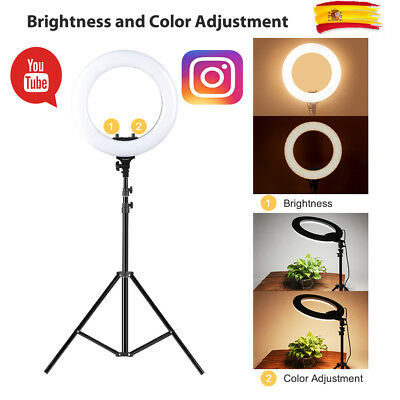 CRAPHY LED 18''/12''Ring Light Two-color Ring Fill Light para Cámara Youtube KIT