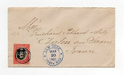 !!! Costa Rica, 1901 San Jose Cover To France