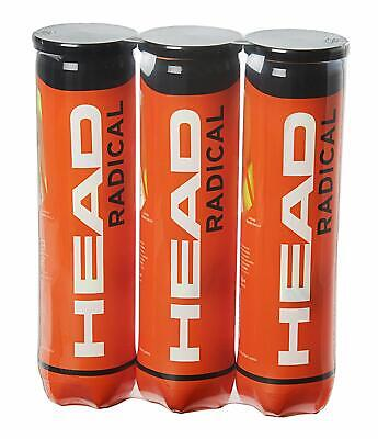 12 balls x HEAD Radical Tennis Balls (3 tubes of 4 balls) FREE DELIVERY
