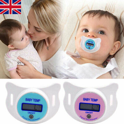 Digital LCD Baby Infant Kid Dummy Pacifier Soft Nipple Thermometer Temperature W