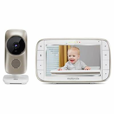 """Motorola MBP845CONNECT 5"""" Video Baby Monitor with Wi-Fi Viewing, Digital Zoom, T"""