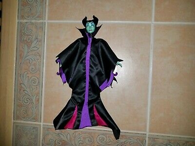 "Disney Evil Villain MALEFICENT Sleeping Beauty Barbie Size 12"" Doll 1999 Mattel"