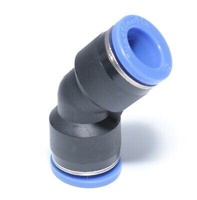 1pc Push in to Connect 45° Elbow Union 10 mm OD Quick One Touch Fitting MT45U10