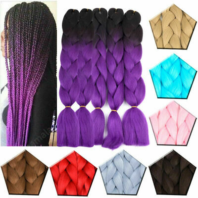 """24"""" High Quality Ombre Dip Dye Kanekalon Jumbo Braid Hair UK 24 Hours Delivery"""