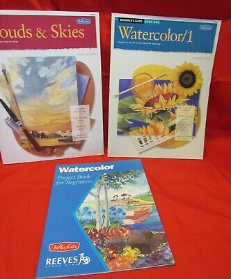 Lot of 3 Walter Foster Painting Instruction Book, Watercolor & Oils, Beginners