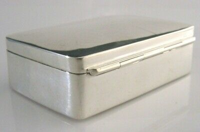GOOD SIZE ENGLISH STERLING SILVER PILL or SNUFF BOX LONDON 2013 2.75 inch 61g