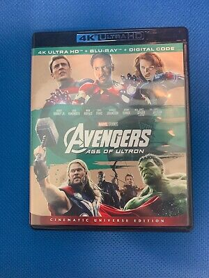 Avengers: Age of Ultron Blu Ray Disk Only. No Digital, No 4K Disk.