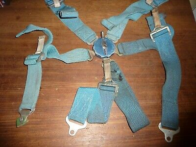 Vintage 1962 dated Aircraft 5 point seat harness with EFA 602 on centre buckle