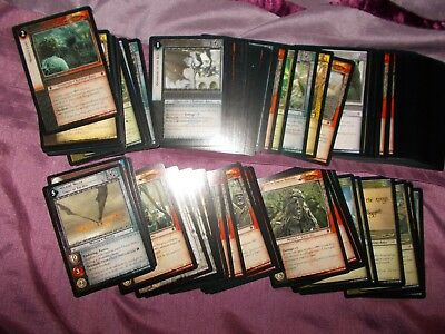 Lord of the Rings Mount Doom set; Job lot of common & uncommon cards x88