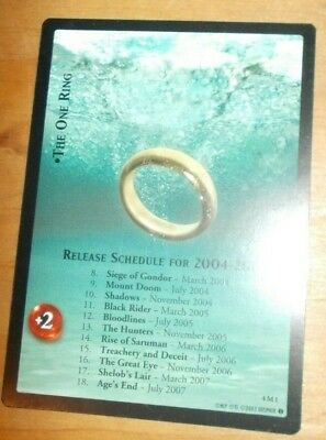 Lord of the Rings Promotional Card: 4M1 The One Ring