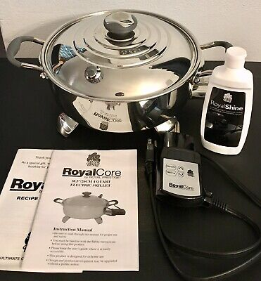 "ROYAL PRESTIGE Cookware Core 10.5"" 4 Qt Electric Skillet CO6570 120v +Extras NEW"