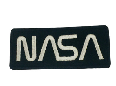 NASA Black/White Iron on/Sew on Embroidered Patch/Badge T-shirt Patch