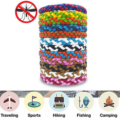 5Pcs/set Anti Mosquito Pest Insect Bugs Repellent Wrist Band Bracelet Wristb WD