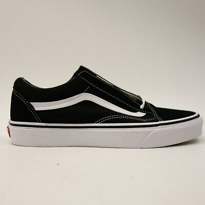 fd715caffc641 Vans Mens Left 10 Right 9.5 Old Skool Black White Canvas Low Top Skate Shoes