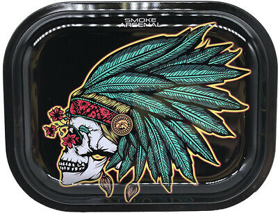 "Smoke Arsenal Premium Rolling Tray "" Kush and Wisdom-S109"" 5.5"" x 7"""