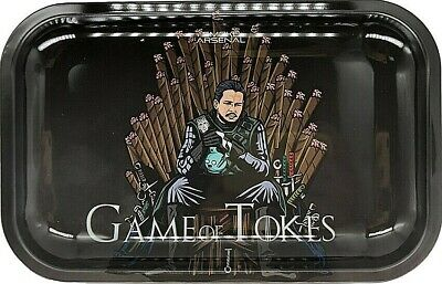 "Smoke Arsenal Premium Rolling Tray ""Game of Tokez-M82"" 6.5""x 11"""