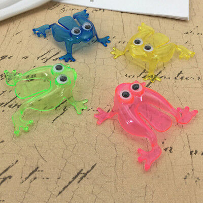 10PCS Jumping Frog Hoppers Game Kids Party Favor Kids Birthday Party Toy WD