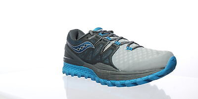 Saucony Womens Xodus Iso 2 Grey/Blue Running Shoes Size 8 (430690)