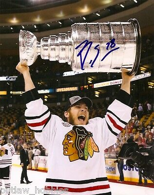 Chicago Blackhawks Ben Smith Stanley Cup Signed Autographed 8x10 Photo COA F
