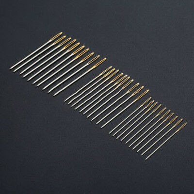 30Pcs Household Hand Sewing Needles Kit For Canvas Leather Carpet Repair Tools