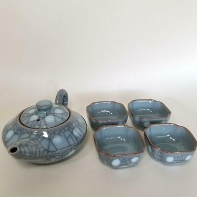 Longquan Kiln Green Magnetic Teapot Tea Set