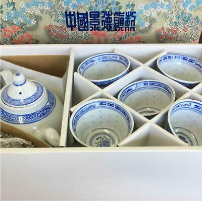 Chinese Tea Pot Set Ceramic Teapot 1 And Teacup 5 Guests Jingdezhen Mark