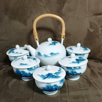 Arita Yaki Hata Pottery Bowl Tea Set