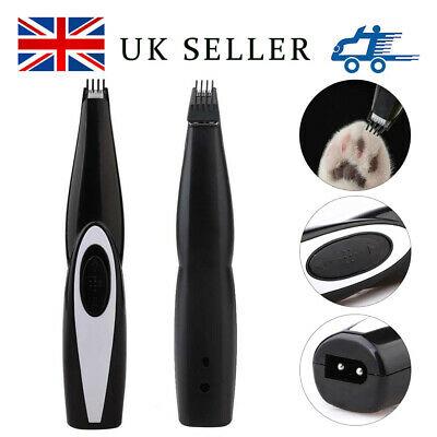Rechargeable Cordless Pet Cat Dog Electric Hair Trimmer Shaver Foot Hair Clipper
