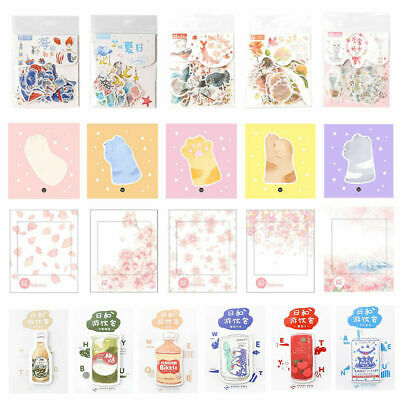N Times Kawaii Cute Folding Gift Bookmark DIY Decoration Various Series Sti V2L8