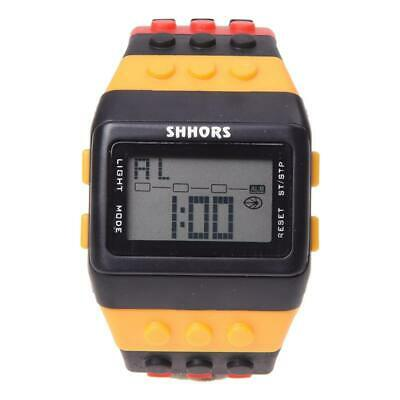Donne Nero Caso Sport Watch LED096 uomo sveglia digitale LCD arcobaleno di  W4J2
