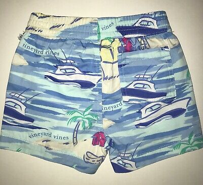 NWT Vineyard Vines Target Baby Island Scene Shorts Toddler Sizes 0/3 & 3/6 CUTE!