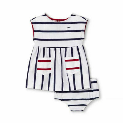 Vineyard Vines for Target Baby Striped Crewneck Dress Navy White 0/3 & 3/6 MONTH