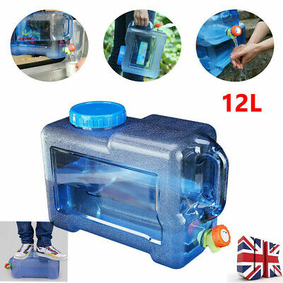 Car 12L Storage Water Tank Tote Bucket Vehicle Container Water Tap Portable