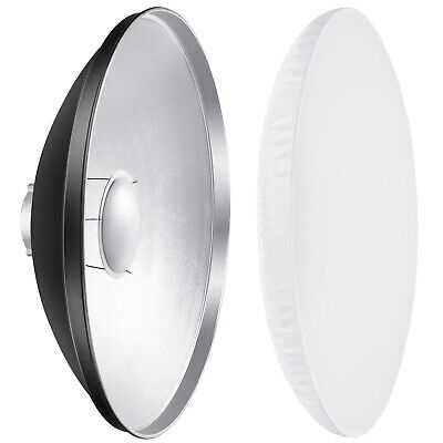 "Neewer 27.5"" Studio Reflector Beauty Dish Aluminum with Diffuser for Flash Light"